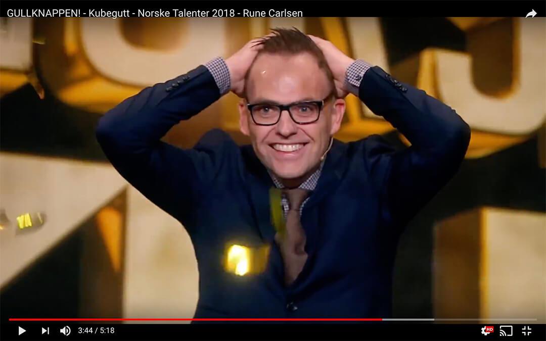 tryllekunstner Rune Carlsen får gullknappen